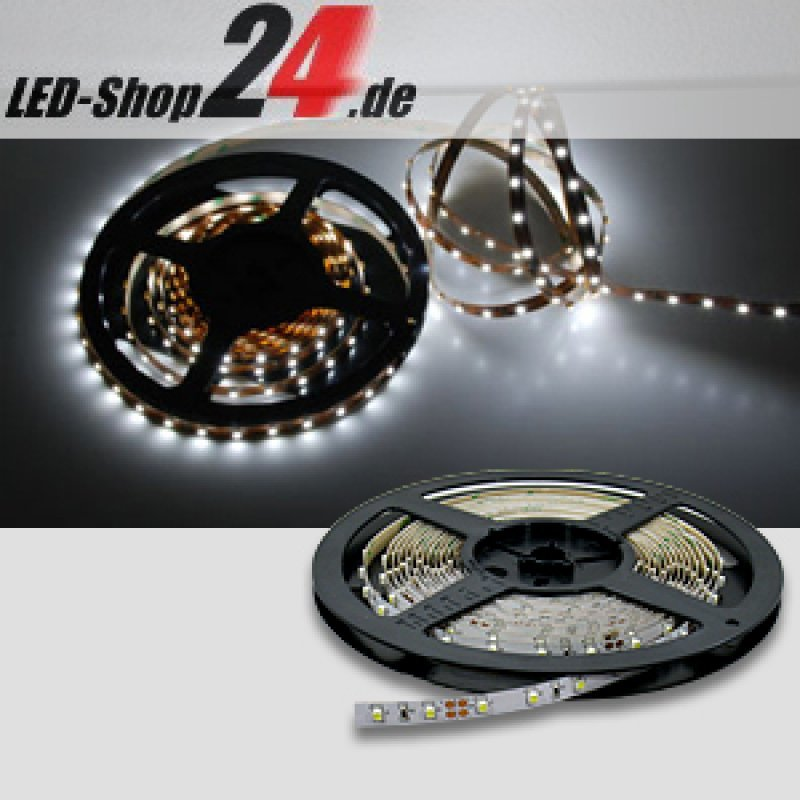 led streifen 24v power kaltwei 2000 lumen m 24 90. Black Bedroom Furniture Sets. Home Design Ideas